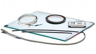 """22"""" (21.5"""")  Сенсорный акустический экран, 6 мм, мультитач до 2 касаний, D-серия, комплект (контроллер USB, провод)"""