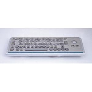 Металлическая антивандальная встраиваемая клавиатура с трекболом, USB,  Ctrl, Win, Alt