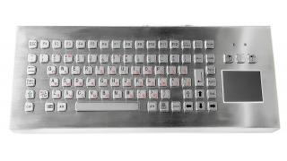 Металлическая настольная антивандальная клавиатура с тачпадом, USB, F1—F12, Alt, Win, Ctrl