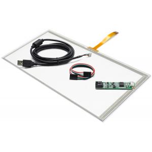"""14,1"""" Сенсорный резистивный экран W4R (4-проводной), широкоформатный, провод снизу, комплект c контроллером USB W4R"""