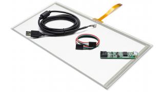 """14,1"""" Сенсорный резистивный экран W4R (4-проводной), широкоформатный, провод снизу, c контроллером USB W4R"""