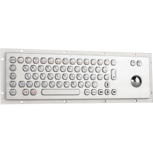 Металлическая антивандальная встраиваемая клавиатура с трекболом, USB, Fn, Ctrl