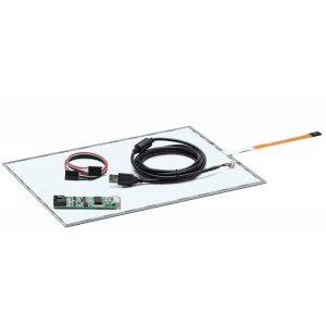 """14,1"""" Сенсорный резистивный экран W4R (5-проводной), широкоформатный, комплект c контроллером USB W5R"""