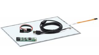 """14,1"""" Сенсорный резистивный экран W4R (5-проводной), широкоформатный, c контроллером USB W5R"""