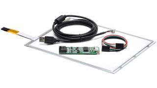 """10,4"""" Сенсорный резистивный экран W4R (4-проводной), антибликовый, комплект c контроллером USB W4R"""