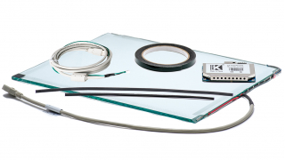 """22"""" Сенсорный акустический экран, 6 мм, мультитач до 2 касаний, D-серия, комплект (контроллер USB, провод)"""