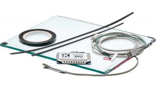 """15"""" Сенсорный акустический экран, 6 мм, мультитач до 2 касаний, D-серия, комплект (контроллер USB, провод)"""