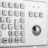 Металлическая антивандальная встраиваемая клавиатура с трекболом, PS/2, F1—F12, Alt, Win, Ctrl