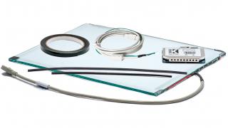 """19"""" Сенсорный широкоформатный (16:10) акустический экран, 6 мм, мультитач до 2 касаний, D-серия, комплект (контроллер USB, провод)"""