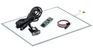 """15"""" Сенсорный резистивный экран W4R (4-проводной), комплект c контроллером RS232 W5R"""