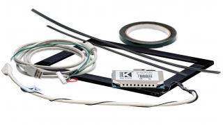 """12,1"""" Сенсорный акустический экран в рамке, 6 мм, P-серия, комплект (контроллер USB, провод)"""