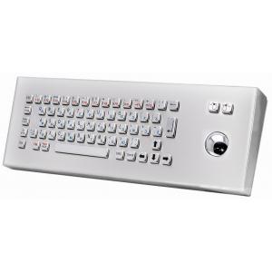 Металлическая настольная антивандальная клавиатура c трекболом, USB, Fn, Ctrl