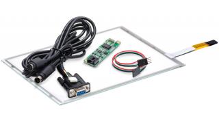 """10,4"""" Сенсорный резистивный экран W4R (4-проводной), комплект c контроллером RS232 W5R"""