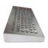 Металлическая настольная антивандальная клавиатура c трекболом, PS/2, F1—F12, Alt, Win, Ctrl