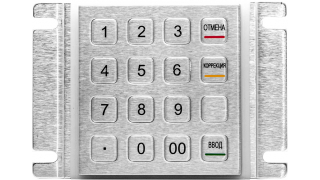 Металлическая антивандальная цифровая клавиатура, PS/2
