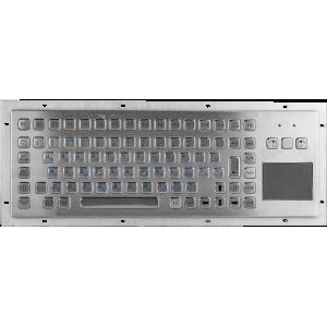 Металлическая антивандальная встраиваемая клавиатура с тачпадом, USB, F1—F12, Alt, Win, Ctrl