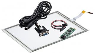 """10,4"""" Сенсорный резистивный экран W4R (5-проводной),  комплект c контроллером  RS232 W5R"""