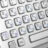 Металлическая антивандальная встраиваемая клавиатура с трекболом, PS/2, Alt, Win, Ctrl
