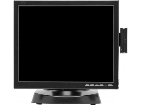 15'' Настольный резистивный сенсорный POS монитор + считыватель магнитных карт TG-reader-1300, USB, KTD-серия