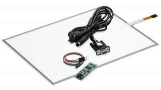 """17"""" Сенсорный резистивный экран W4R (4-проводной), комплект c контроллером RS232"""
