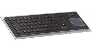 Металлическая антивандальная встраиваемая клавиатура с тачпадом, black,USB,  Alt, Win, Ctrl