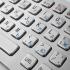 Металлическая антивандальная встраиваемая клавиатура с тачпадом, USB, Alt, Win, Ctrl