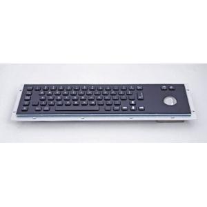 Металлическая антивандальная встраиваемая клавиатура с трекболом, black, USB, Alt, Win, Ctrl
