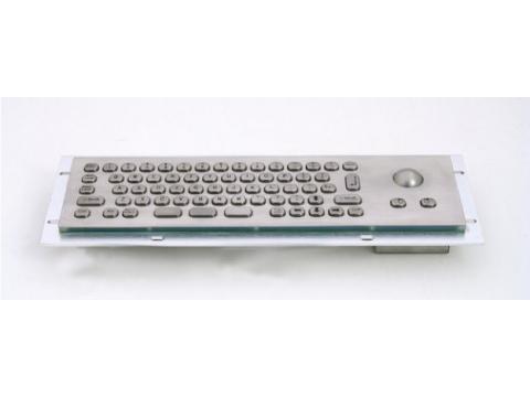 Металлическая антивандальная встраиваемая клавиатура с трекболом, USB, Ctrl, Alt