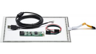 """10,4"""" Сенсорный резистивный экран W5R (5-проводной), комплект c контроллером USB W5R"""