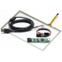 """7,1""""  Сенсорный резистивный экран W4R (4-проводной), широкоформатный, комплект c контроллером USB W4R"""