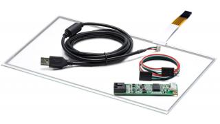 """10,1"""" Сенсорный резистивный экран W4R (4-проводной), широкоформатный, A2, c контроллером USB W4R"""