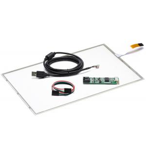 """14,1"""" Сенсорный резистивный экран W4R (4-проводной), широкоформатный, провод справа, комплект c контроллером USB W4R"""