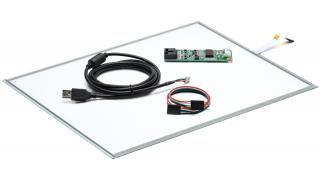 """15"""" Сенсорный резистивный экран W4R (4-проводной), комплект c контроллером USB W4R"""
