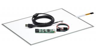"""15"""" Сенсорная панель резистивная W4R WIDE   (4 проводная) c контроллером USB W4R"""