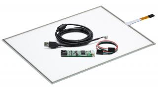 """17"""" Сенсорный резистивный экран W4R (4-проводной), комплект c контроллером USB W4R"""