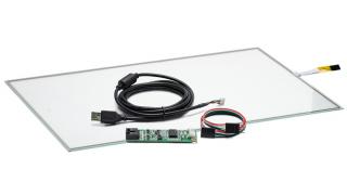 """19"""" Сенсорный резистивный экран W4R (4-проводной), широкоформатный, комплект c контроллером USB W4R"""