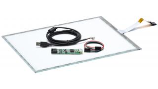 """15"""" Сенсорный резистивный экран W4R (5-проводной), комплект c контроллером USB W5R"""