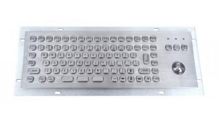Металлическая антивандальная встраиваемая клавиатура с трекболом, USB, F1—F12,  Ctrl