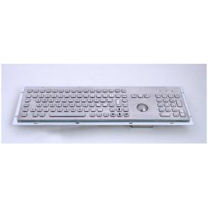 Металлическая антивандальная встраиваемая клавиатура с трекболом, USB, F1—F12, Alt, Win, Ctrl