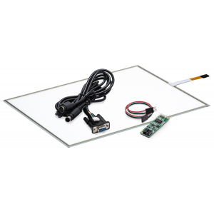 """15"""" Сенсорный резистивный экран W4R (4-проводной), широкоформатный, c контроллером RS232 W5R"""