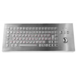 Металлическая настольная антивандальная клавиатура c трекболом, USB, F1—F12, Alt, Win, Ctrl