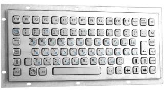 Металлическая антивандальная клавиатура, USB, F1—F12, Alt, Win, Ctrl