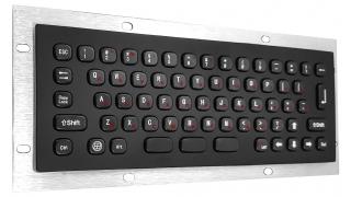 Металлическая антивандальная встраиваемая клавиатура, USB, black, Alt, Win, Ctrl