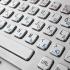 Металлическая антивандальная встраиваемая клавиатура с тачпадом, PS/2, Alt, Win, Ctrl
