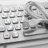 Металлическая антивандальная встраиваемая клавиатура с тачпадом, USB, Fn, Ctrl