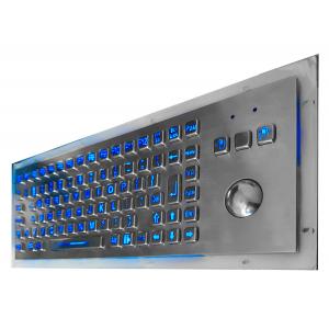 Металлическая антивандальная встраиваемая клавиатура с трекболом, LED-подсветка клавиш, USB, F1—F12, Alt, Win, Ctrl