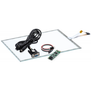 """15"""" Сенсорный резистивный экран W4R (5-проводной), комплект c контроллером RS232 W5R"""