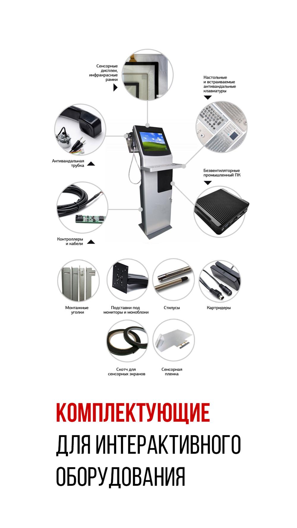 Комплектующие для интерактивного оборудования
