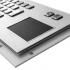 Металлическая антивандальная встраиваемая клавиатура с тачпадом, old, USB, Fn, Ctrl